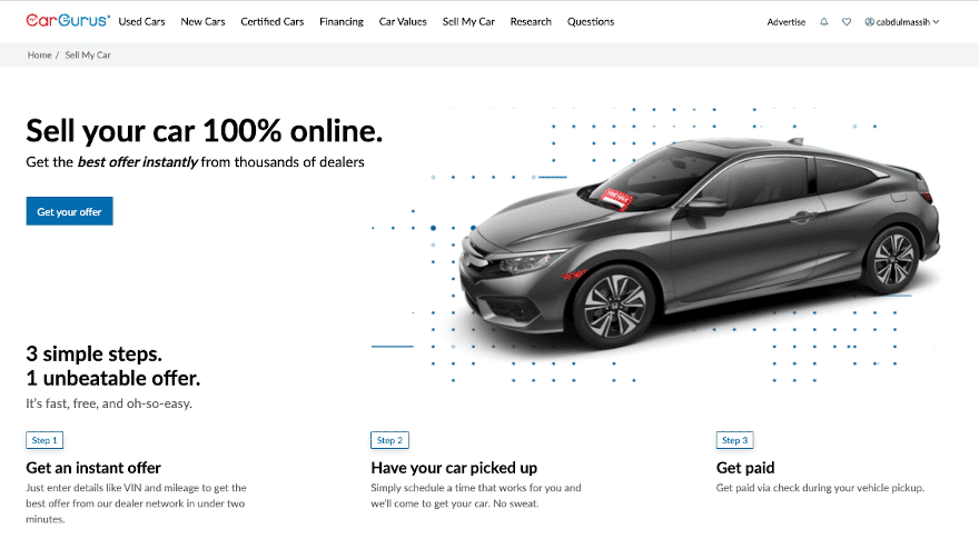 CarGurus launches platform for dealers to buy used cars online from consumers